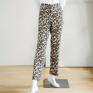 Banana  Republic Avery Animal Print Work Trousers